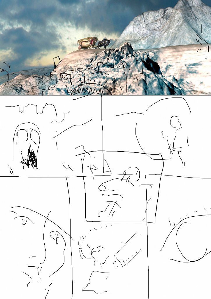Skizze Test Comic