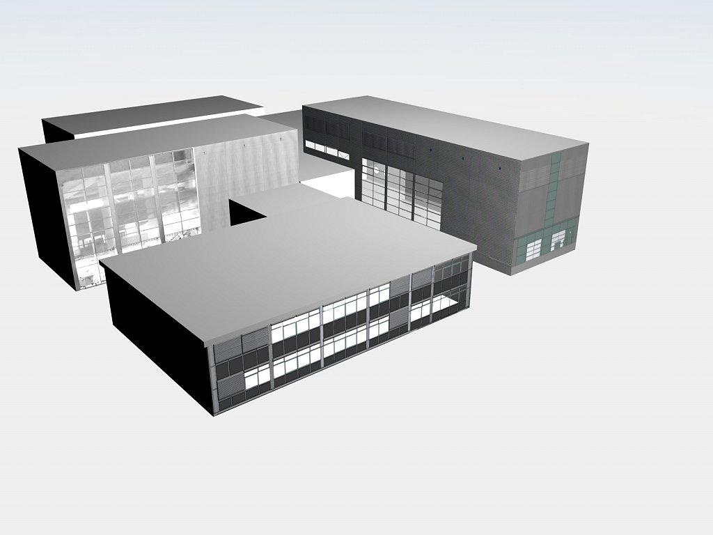 Entwurf Druckerei-Komplex